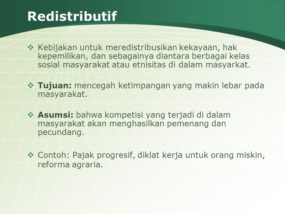 Redistributif