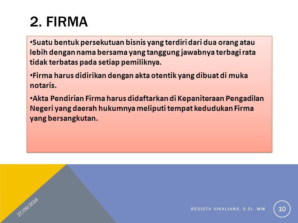 2. Firma