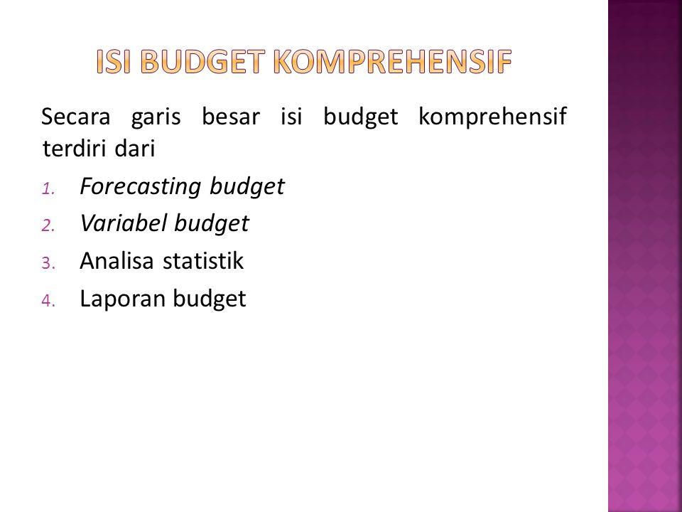 Isi Budget Komprehensif