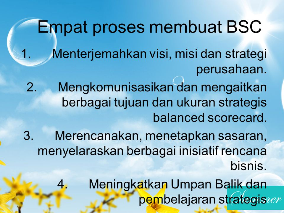 Empat proses membuat BSC