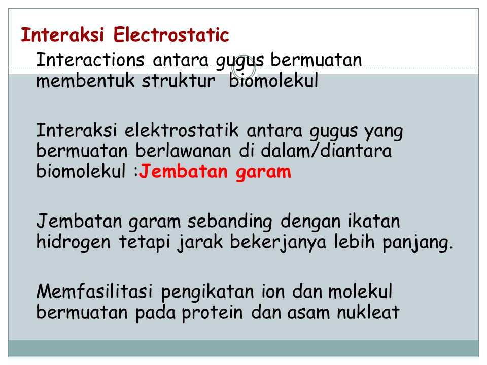 Interaksi Electrostatic