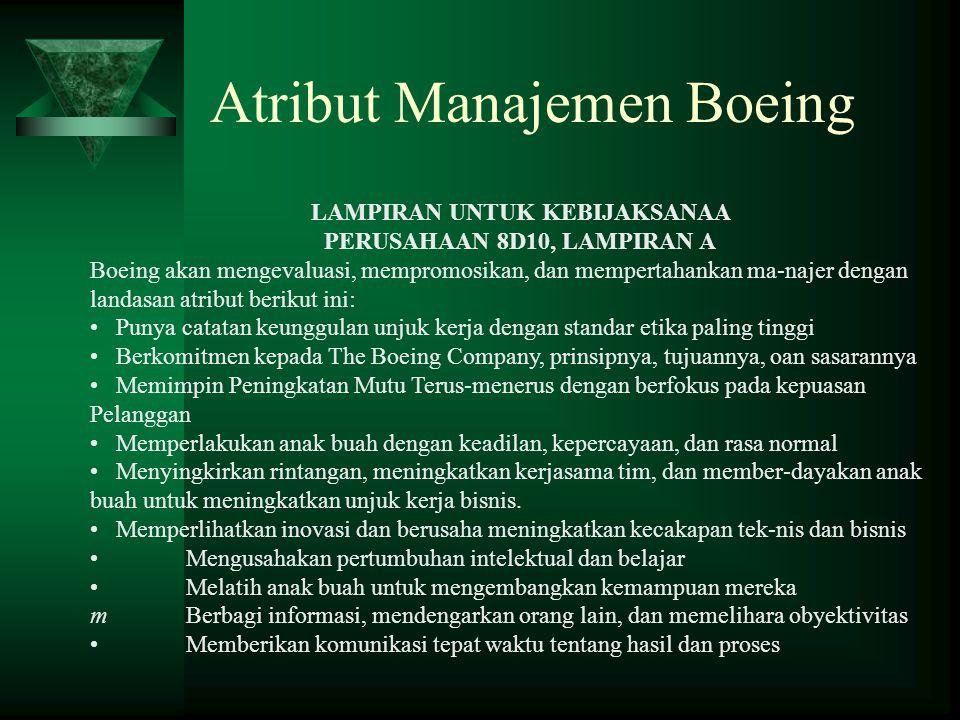 Atribut Manajemen Boeing