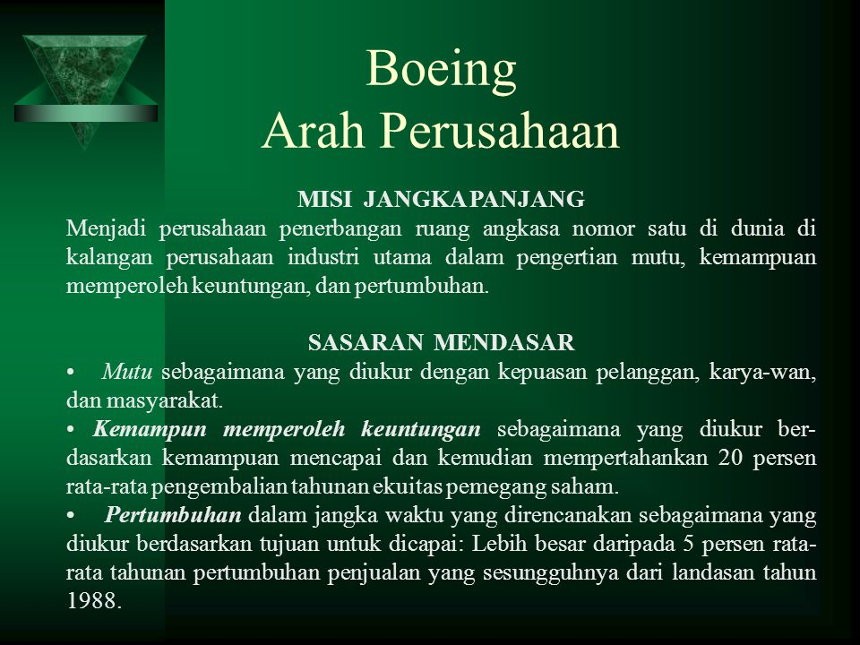 Boeing Arah Perusahaan