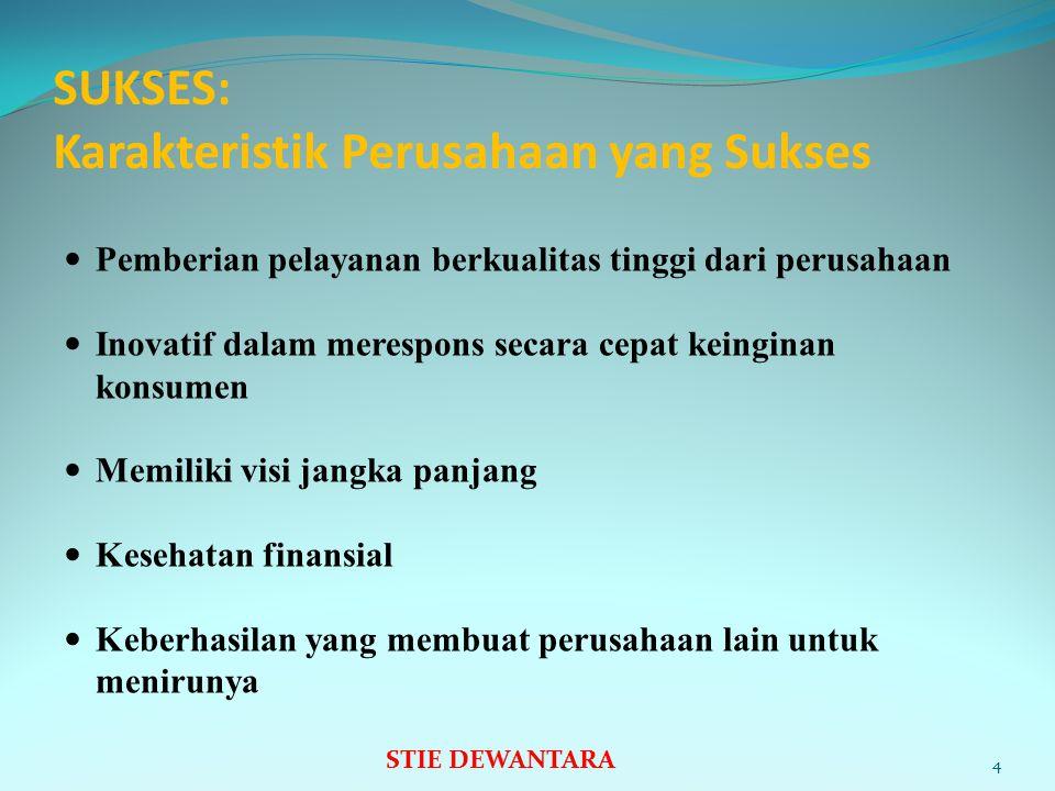 SUKSES: Karakteristik Perusahaan yang Sukses
