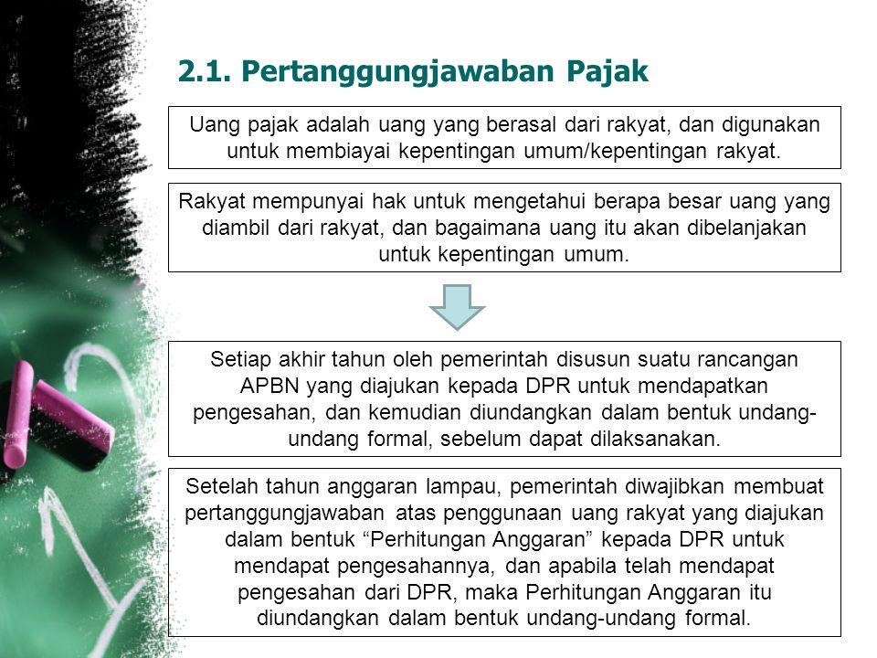 2.1. Pertanggungjawaban Pajak