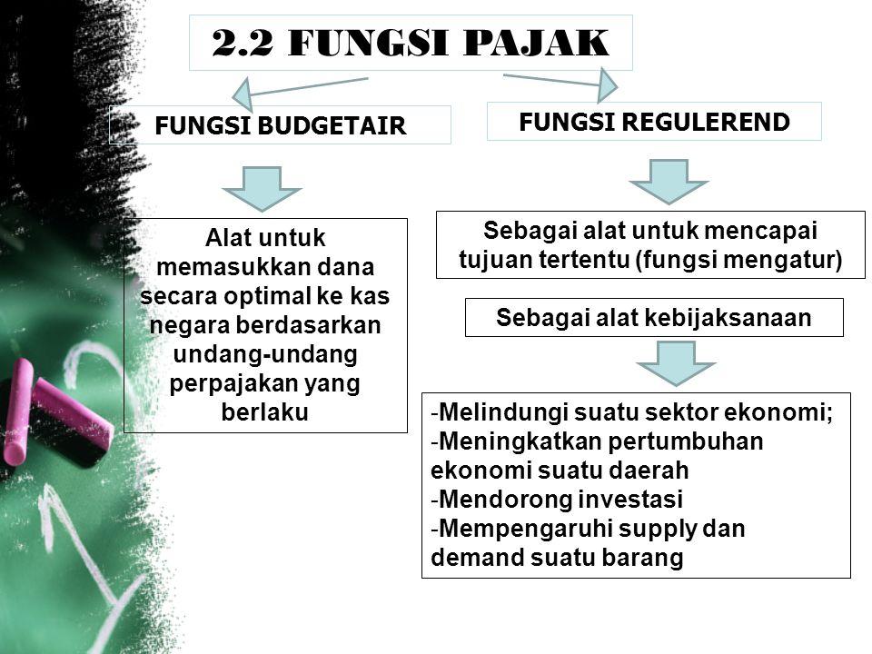 2.2 FUNGSI PAJAK FUNGSI REGULEREND FUNGSI BUDGETAIR