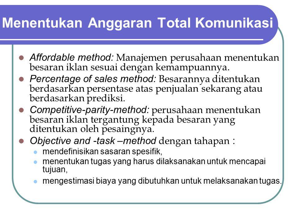 Menentukan Anggaran Total Komunikasi