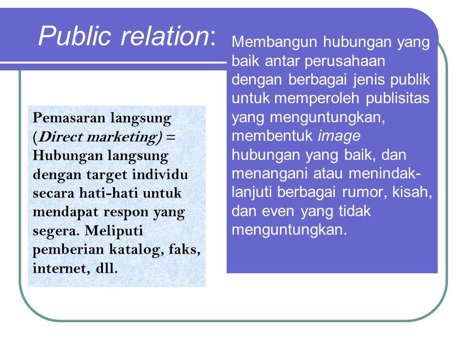 Public relation: