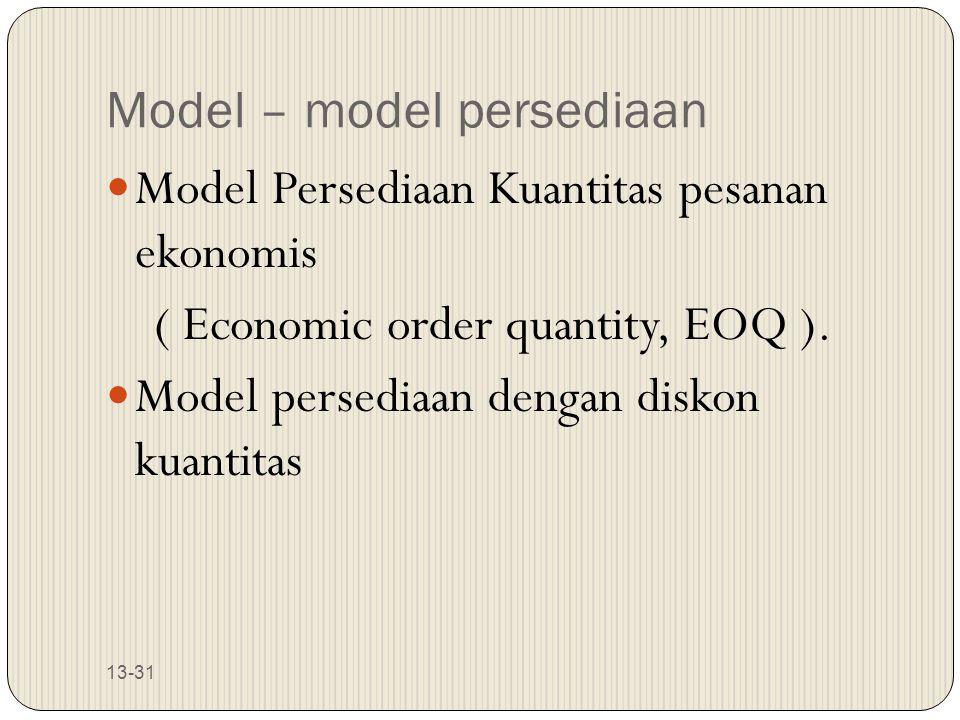 Model – model persediaan
