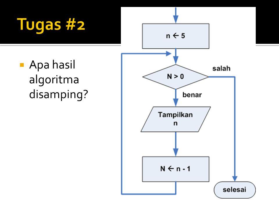Tugas #2 Apa hasil algoritma disamping