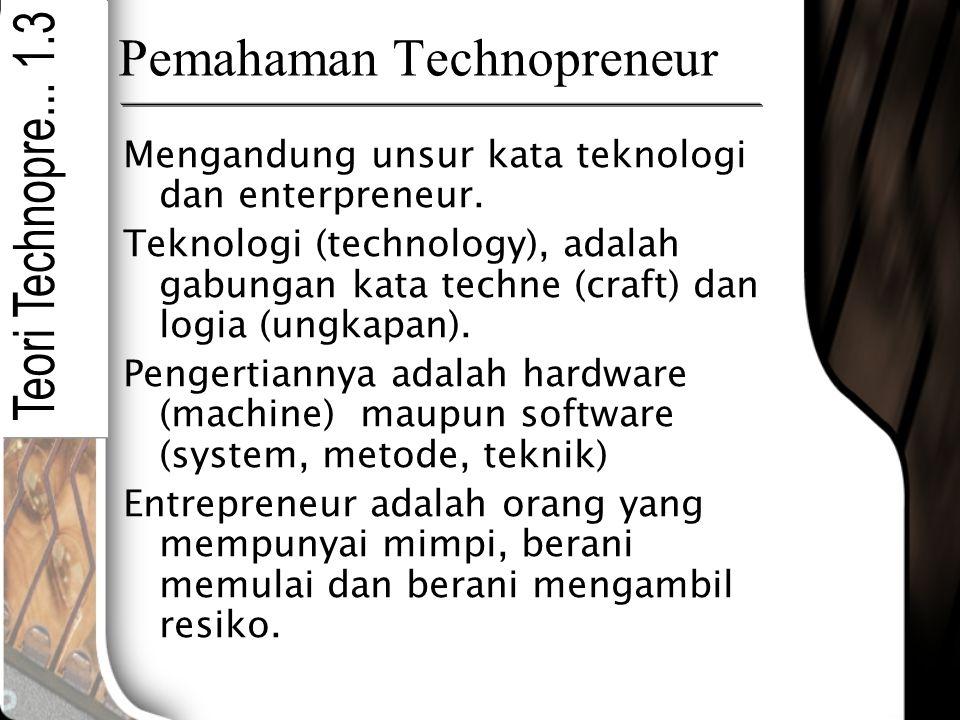 Pemahaman Technopreneur