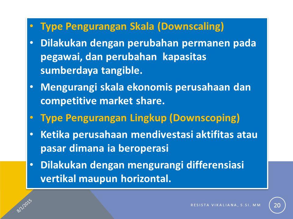 Type Pengurangan Skala (Downscaling)