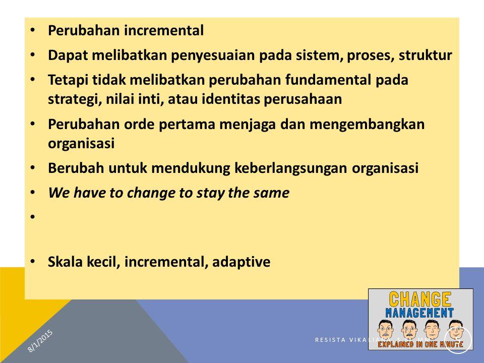 Perubahan incremental