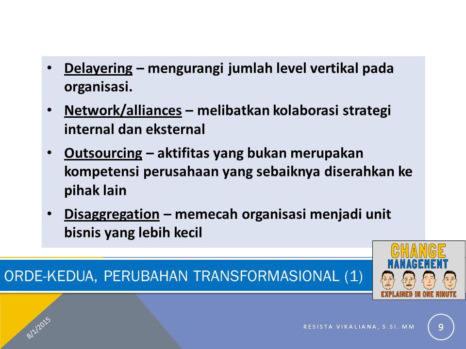 Orde-Kedua, Perubahan Transformasional (1)