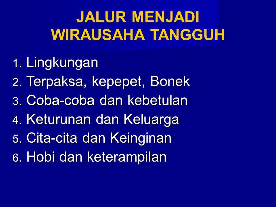 JALUR MENJADI WIRAUSAHA TANGGUH