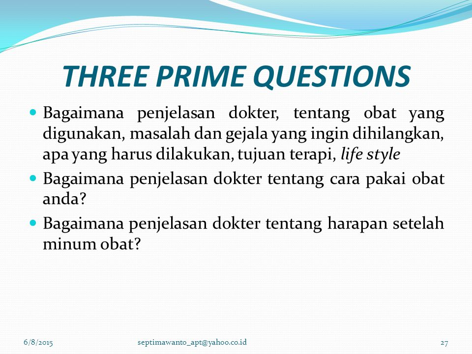 THREE PRIME QUESTIONS