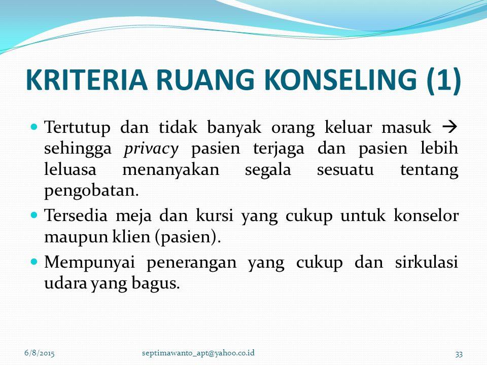 KRITERIA RUANG KONSELING (1)