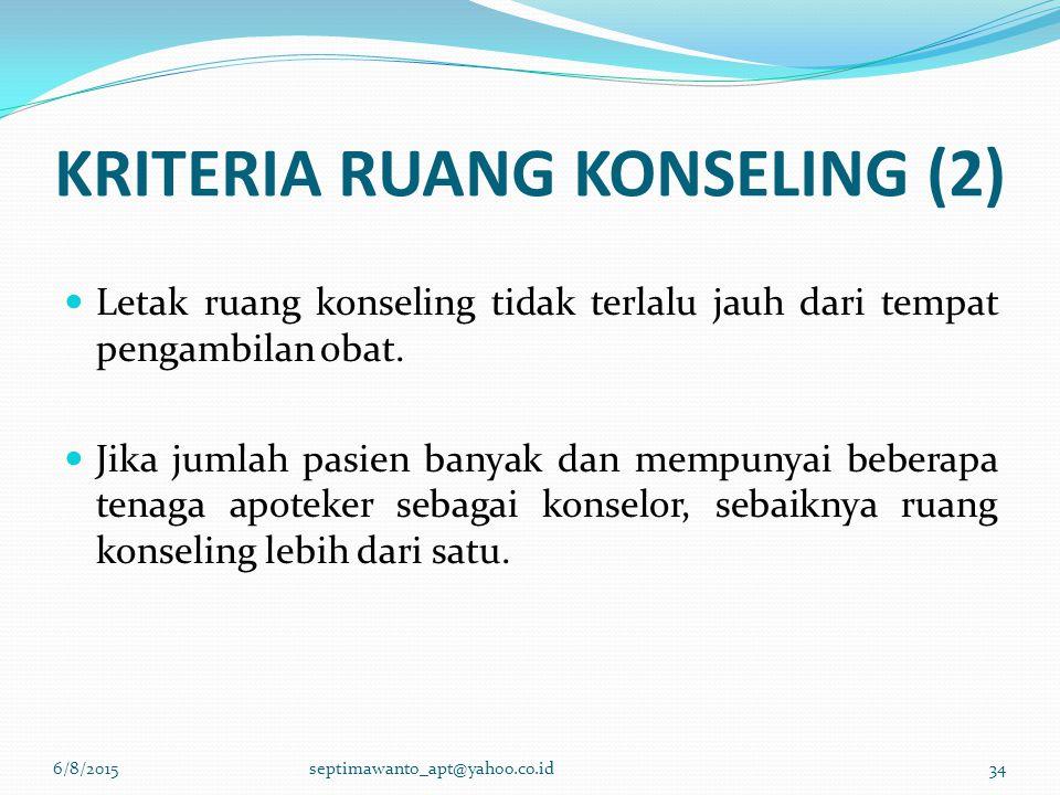 KRITERIA RUANG KONSELING (2)