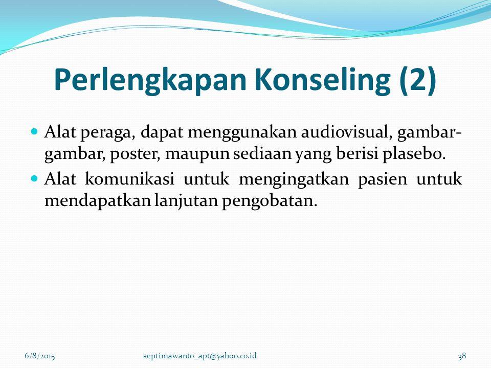 Perlengkapan Konseling (2)