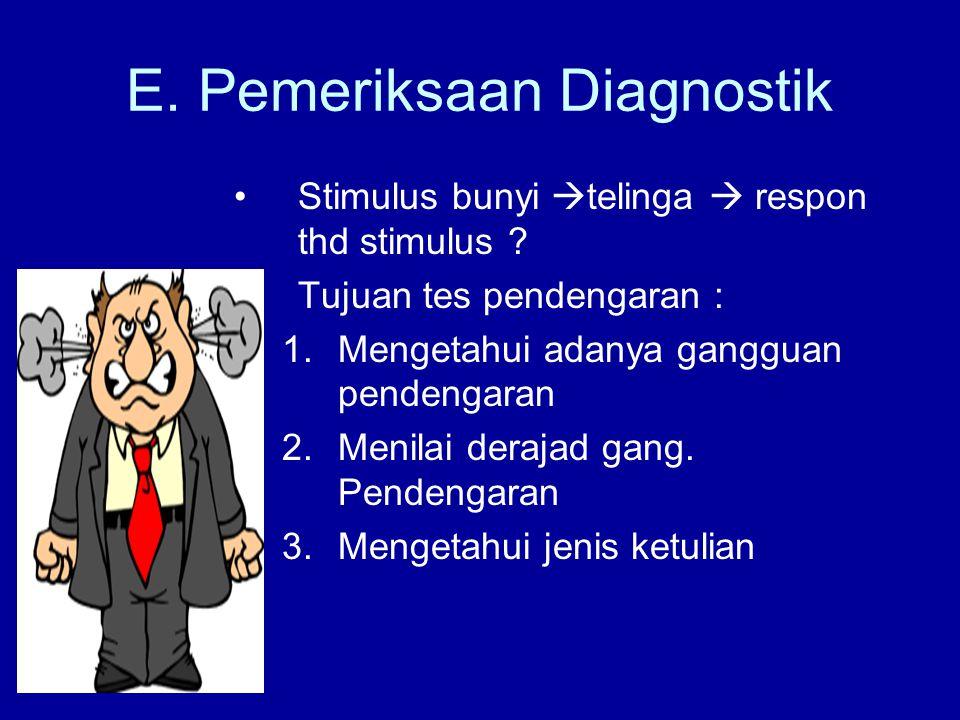 E. Pemeriksaan Diagnostik