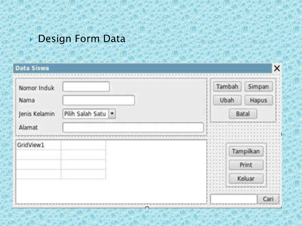 Design Form Data