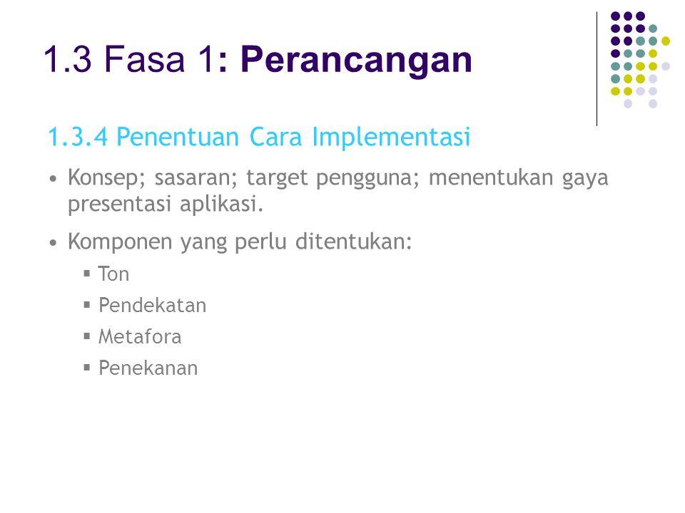 1.3 Fasa 1: Perancangan 1.3.4 Penentuan Cara Implementasi