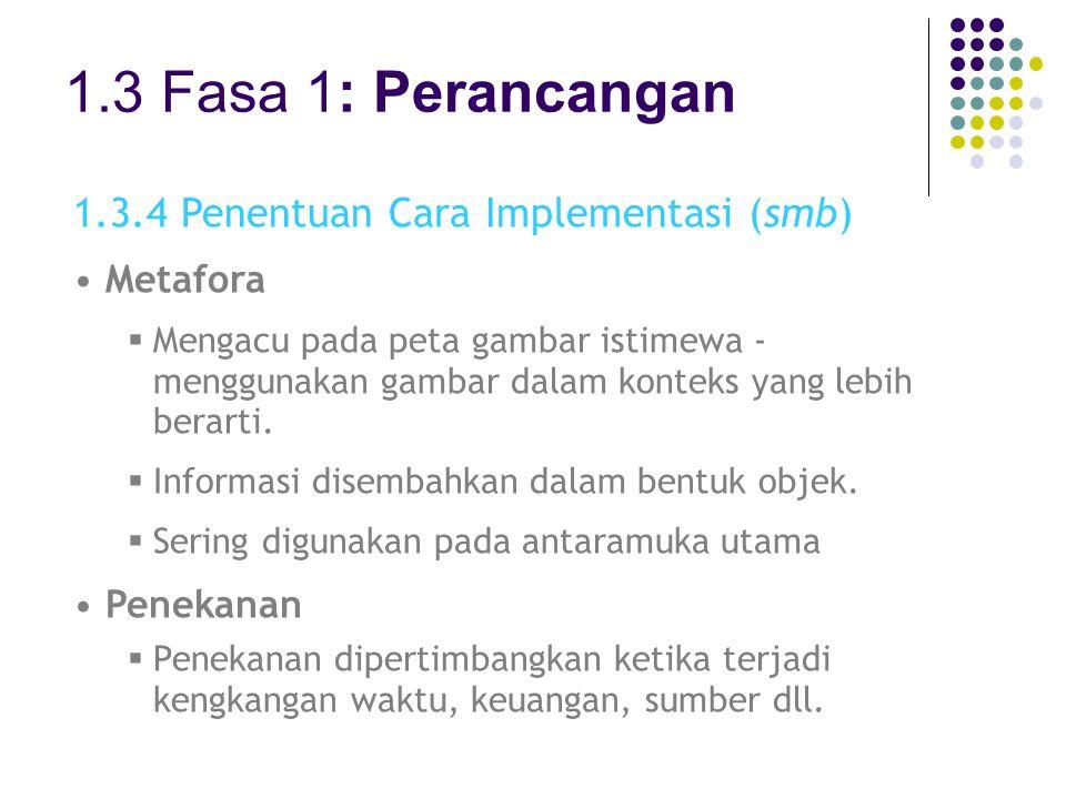 1.3 Fasa 1: Perancangan 1.3.4 Penentuan Cara Implementasi (smb)