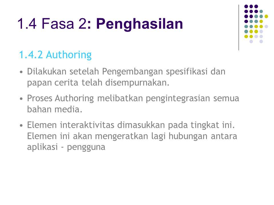 1.4 Fasa 2: Penghasilan 1.4.2 Authoring