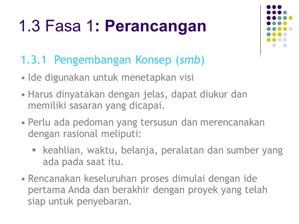 1.3 Fasa 1: Perancangan 1.3.1 Pengembangan Konsep (smb)
