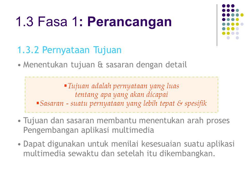 1.3 Fasa 1: Perancangan 1.3.2 Pernyataan Tujuan