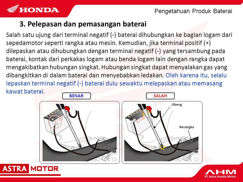 3. Pelepasan dan pemasangan baterai