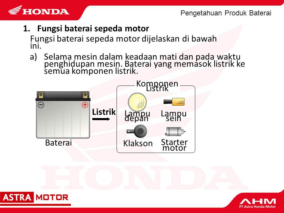 Fungsi baterai sepeda motor