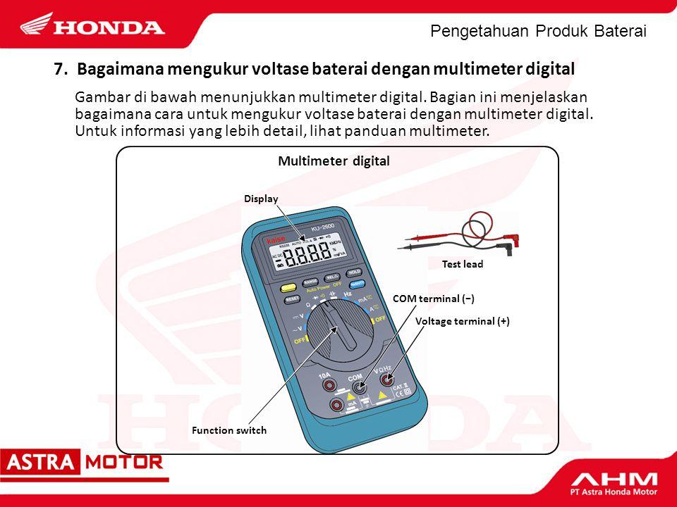 7. Bagaimana mengukur voltase baterai dengan multimeter digital
