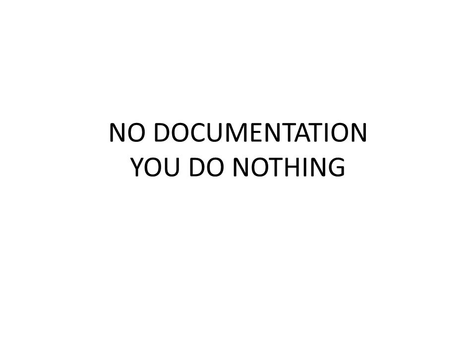 NO DOCUMENTATION YOU DO NOTHING