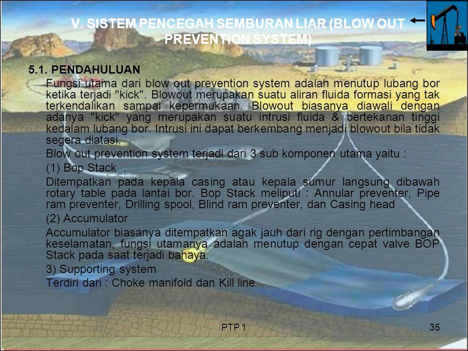 V. SISTEM PENCEGAH SEMBURAN LIAR (BLOW OUT PREVENTION SYSTEM)