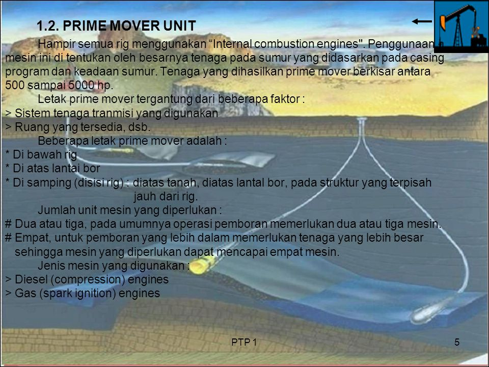 1.2. PRIME MOVER UNIT Hampir semua rig menggunakan Internal combustion engines . Penggunaan.