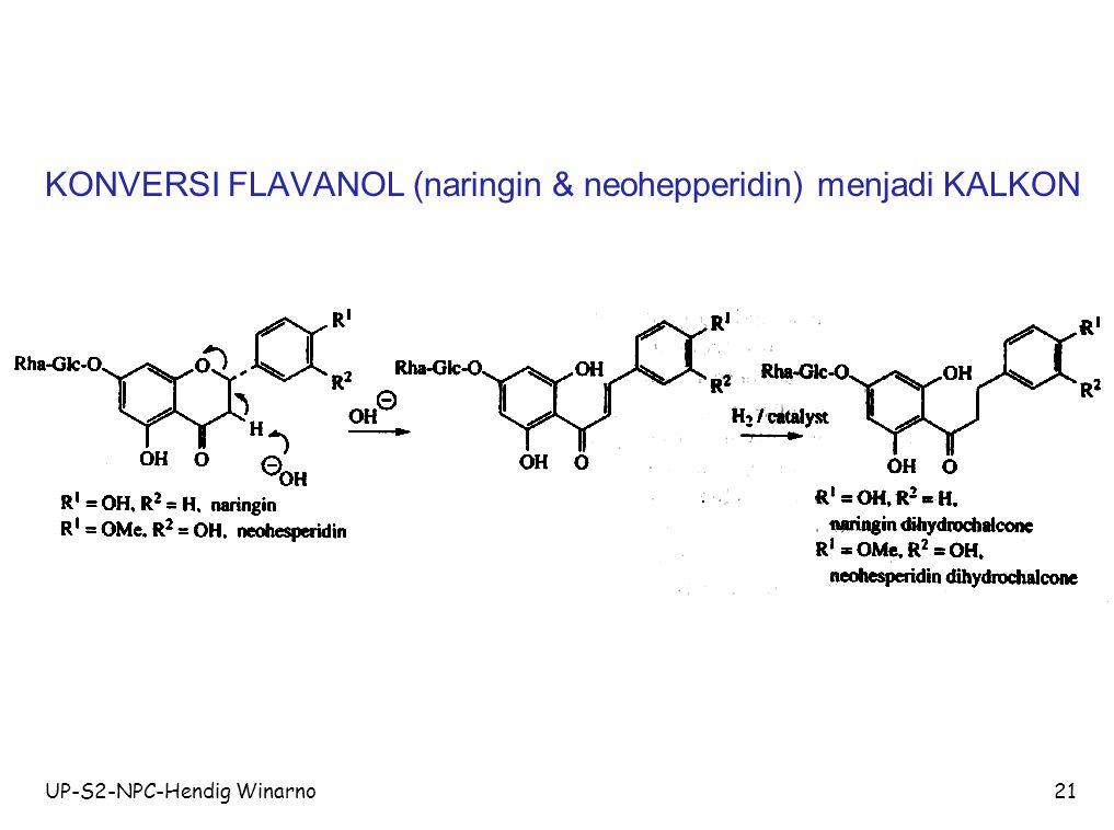 KONVERSI FLAVANOL (naringin & neohepperidin) menjadi KALKON