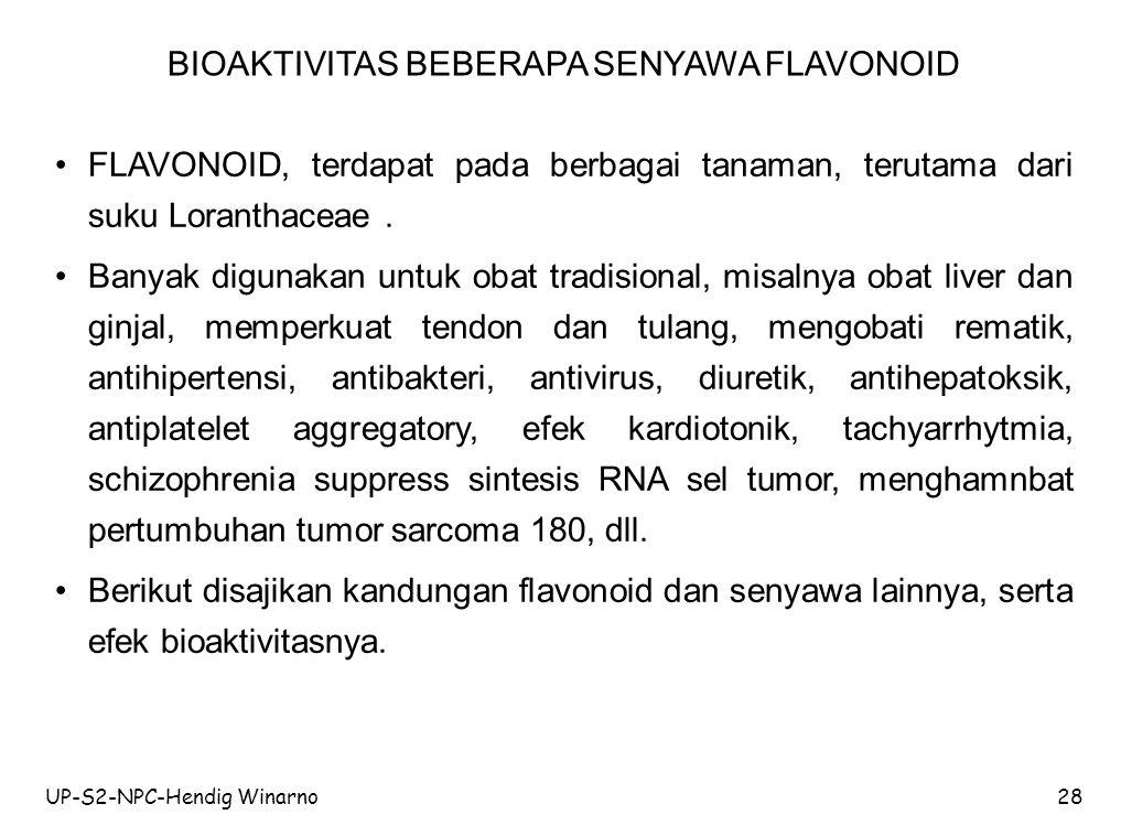 BIOAKTIVITAS BEBERAPA SENYAWA FLAVONOID