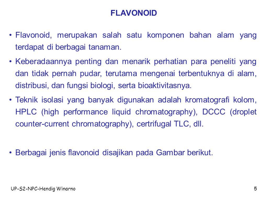 Berbagai jenis flavonoid disajikan pada Gambar berikut.