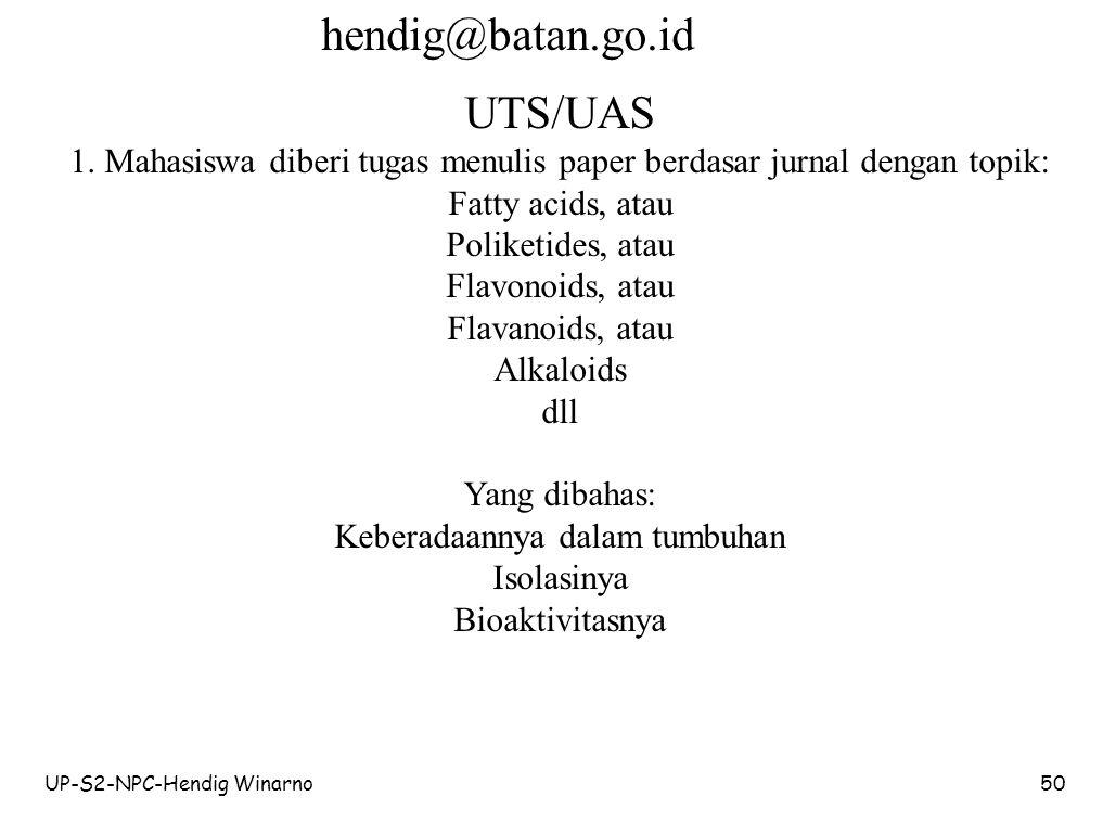 hendig@batan.go.id UTS/UAS