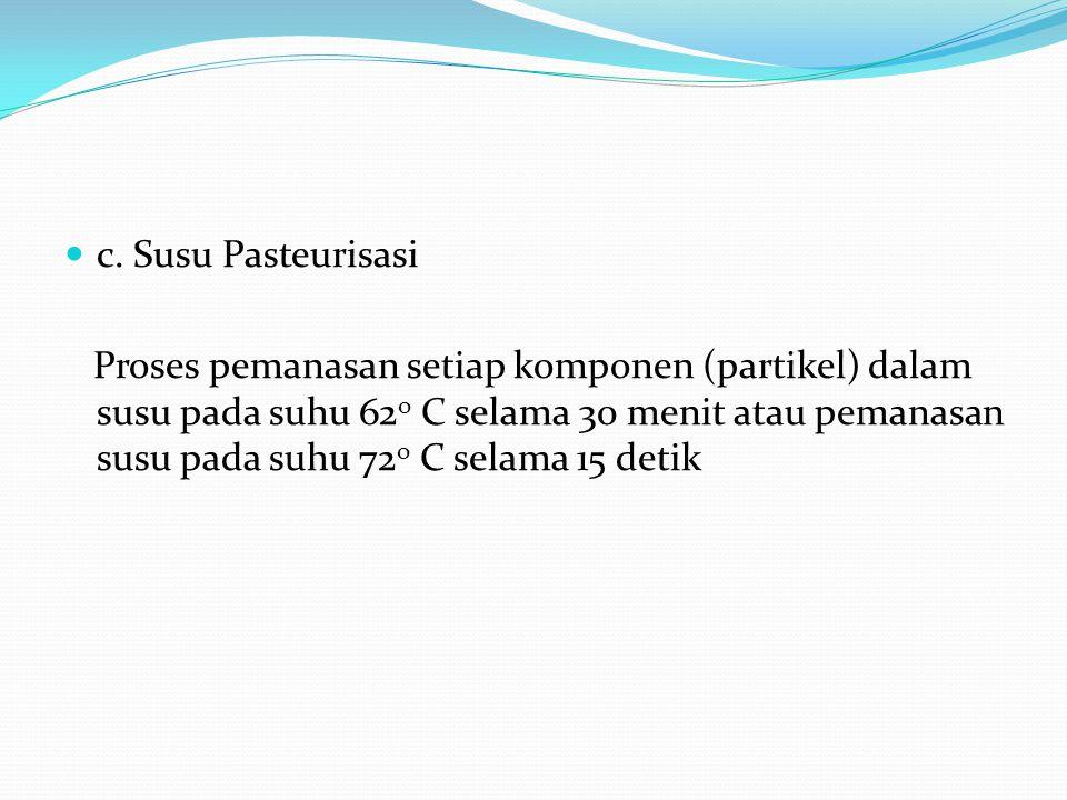 c. Susu Pasteurisasi