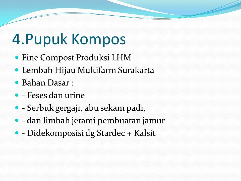 4.Pupuk Kompos Fine Compost Produksi LHM
