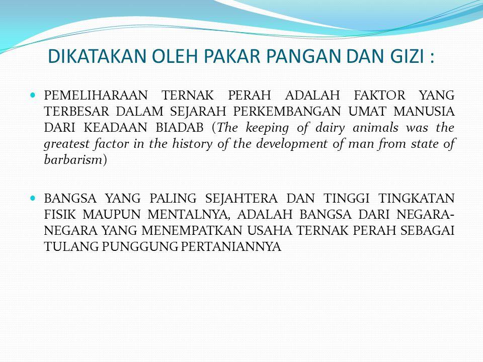 DIKATAKAN OLEH PAKAR PANGAN DAN GIZI :