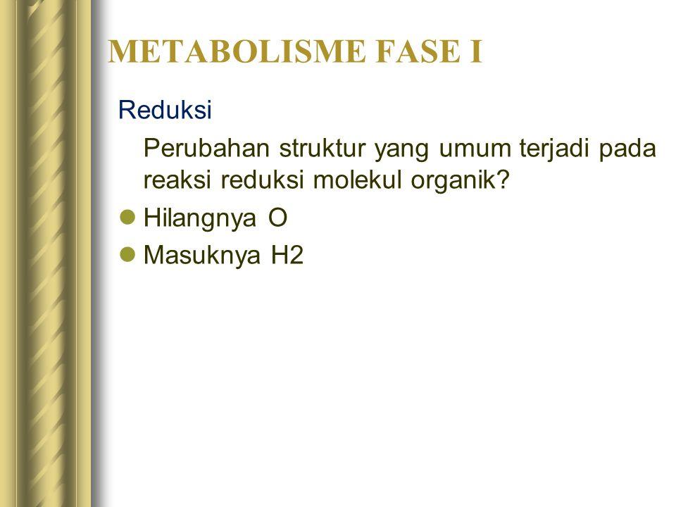 METABOLISME FASE I Reduksi