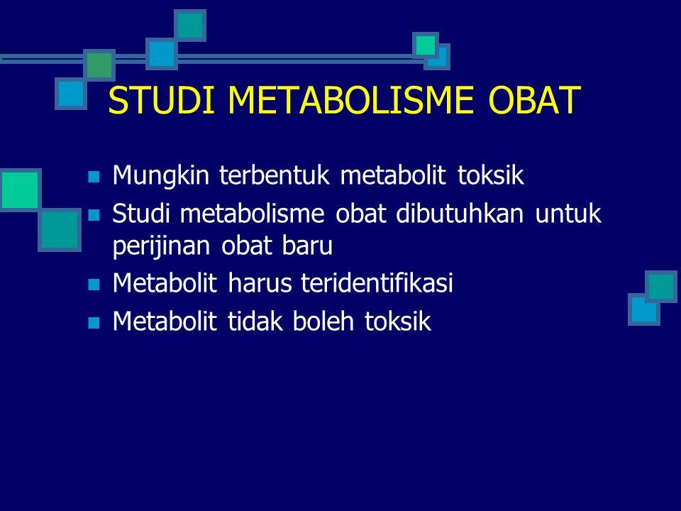 STUDI METABOLISME OBAT