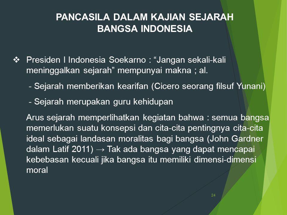 PANCASILA DALAM KAJIAN SEJARAH BANGSA INDONESIA