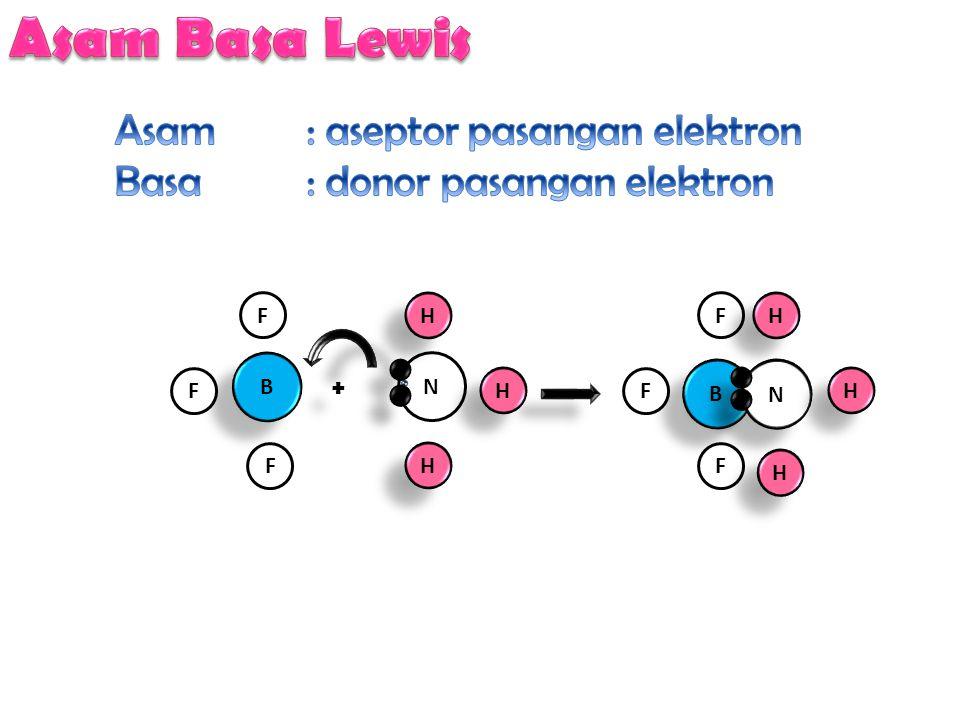 Asam Basa Lewis Asam : aseptor pasangan elektron