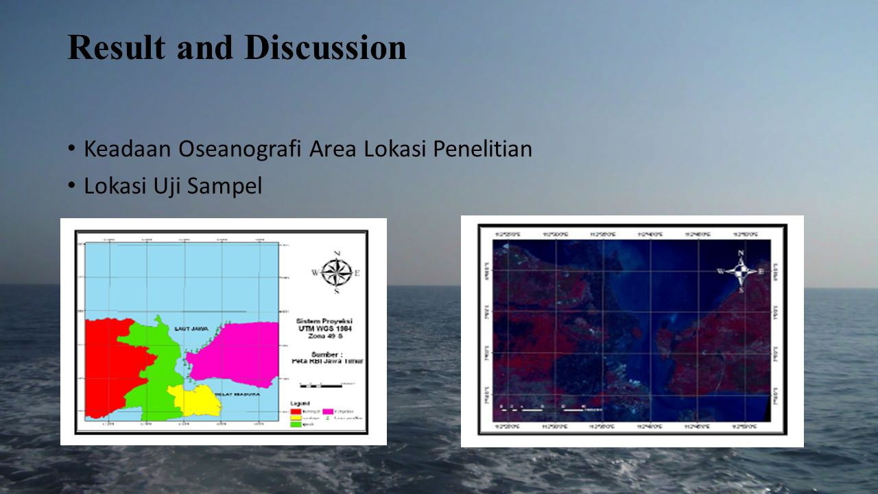Result and Discussion Keadaan Oseanografi Area Lokasi Penelitian