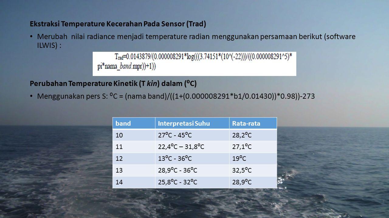 Ekstraksi Temperature Kecerahan Pada Sensor (Trad)