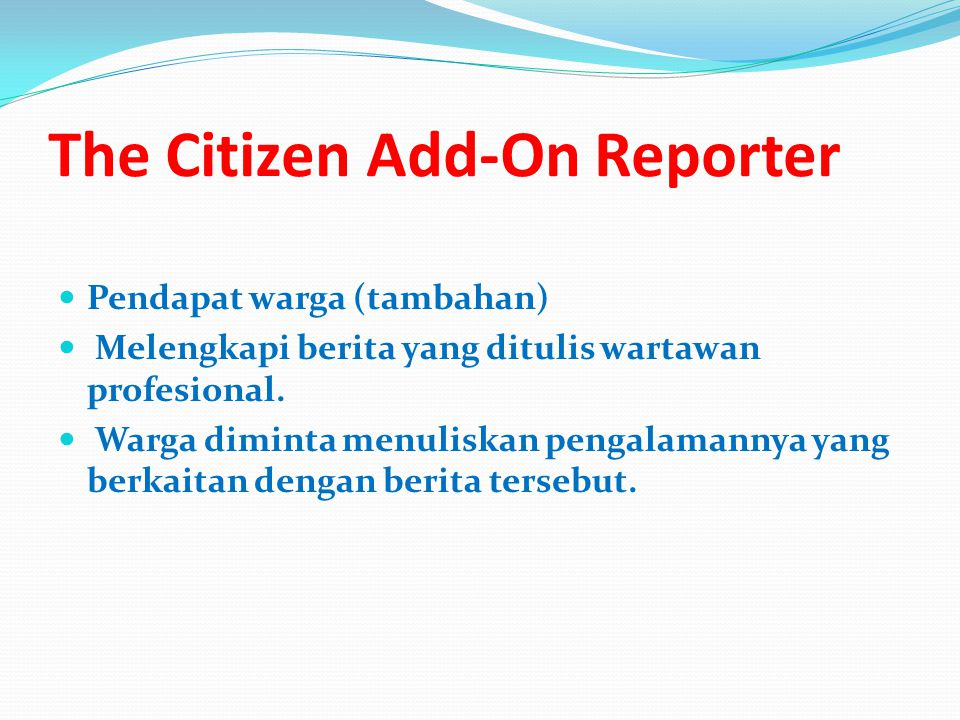 The Citizen Add-On Reporter